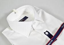 Camicia Ingram Bianca vestibilità Slim Fit 100% Cotone No Stiro lavorato Piquet