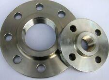 Gewindeflansch PN16 Stahl verzinkt DN15 bis DN100, DIN 2566 und Gummidichtungen