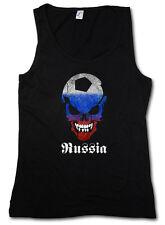 Russia Russian FOOTBALL SOCCER Skull Flag DONNA TANK TOP FAN punkhooligan Soviet