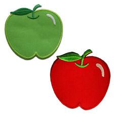 Toppe termoadesive - mela frutto - diversi colori selezionabili - 7.5 x 8 cm - P