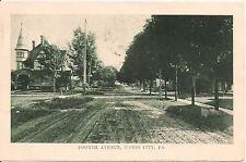 View On Fourth Avenue Union City Pa Postcard 1909