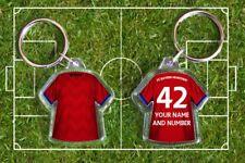 BAYERN MUNICH football shirt KEYRING,  Fully personalised name & number Der FCB