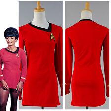 Star Trek TNG Female Duty Uniform Halloween Cosplay Costume Dress Color Red