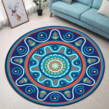 Simple Abstract Mandala Bedroom Floor Non-slip Round Mat Area Rug Yoga Carpet