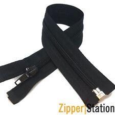 BLACK Nylon Autolock Open End #5 Zip - 21 different zipper lengths