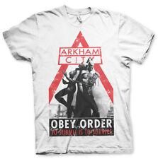 Orden oficialmente Licenciado Batman Arkham Obey Para hombres Camiseta Tallas S-XXL