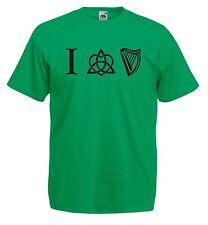 Maglia J709 I Love Guinness Intreccio Celtico T-shirt Cotone 100% Fairylands