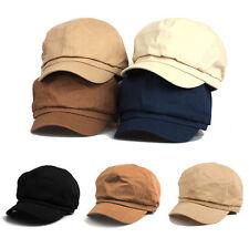 Unisex Mens Unicolor Bakerboy Beret Flat Cap Newsboy Cabbie Gatsby Driver Hats