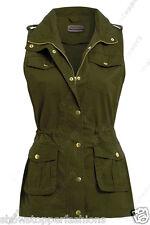 Neuf Pour Femmes Sans Manches Veste Gilet Utilitaire Fashion Size 8 10 12 14 16