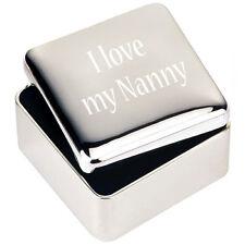 bijoux en argent Boîte de BIBELOT CADEAU J'aime mon Nanny