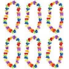 HAWAIIAN LEI GARLAND FLOWER NECKLACE LADIES MENS LUAU LOT FANCY DRESS PARTY