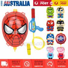 Kids Water Gun Backpack Pistol Summer Beach Toy Gift Peppa Pig Spiderman Hulk