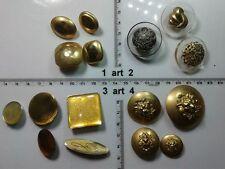 1 lotto bottoni gioiello strass smalti oro leone buttons boutons vintage g5