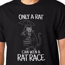 Solo un VERME può vincere un RAT RACE T-SHIRT BANKSY GEEK FUNNY preventivo Graffiti Tomlin