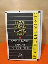 COME LEGGERE E CAPIRE I BILANCI - RIZZOLI - 1990 (E10)