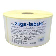 Thermo Etiketten Rolle - 57 x 102 mm - 700 Stück Kern25mm Zebra GK420 GC LP TLP