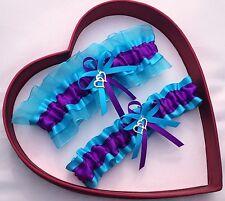 NEW Forever Bridal Wedding Garters Purple Turquoise Prom GetTheGoodStuff Sexy