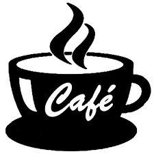 Sticker Cuisine Tasse de Café fumant, 18 coloris, 5 tailles (CUISINE020)