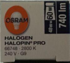 OSRAM 48W = 60W ECO HALOGEN G9 CAPSULE 48 WATT LOOP DIMMABLE PUSH FIT LAMP BULB
