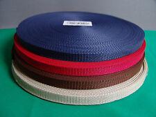 1,00 €/m Gurtband 1 Meter 15 mm breit 1,4 mm dick Neu