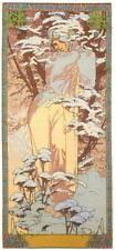 Alphonse Mucha  Seasons Winter Giclee Canvas Print