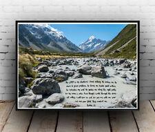 Christian Inspirational Poster - Psalms 23 - Life Love Forever - ALL SIZES