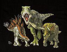Dinosaur Heads & Tails-T Rex Stegosaurus Triceratops T shirt Kid's sizes Xs-Lg