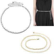 Vestido De Novia encanto señoras de la cintura cinturón cadena de metal con Perlas para Decoración