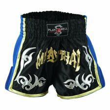 Playwell Competencia Muay Thai Malla Lucha Calzones Negro Shorts Mma Pantalones