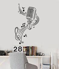 Music Wall Decal Microphone Singer Notes Music Karaoke Vinyl Stickers (ig377)