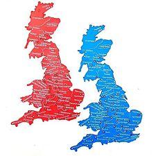 UK Great Britain Stencil Map 1-5 Million Scale Trace Cities Rivers 18cm x 12cm