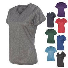 Badger Ladies Short Sleeve Tees Tops Pro Heather Women's V-Neck T Shirt