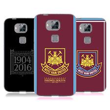 Officiel West Ham United FC Rétro Crest GEL SOUPLE CASE Pour HUAWEI Phone 2