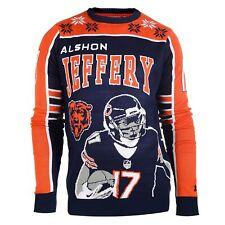 KLEW NFL Men's Chicago Bears Alshon Jeffery #17 Ugly Sweater