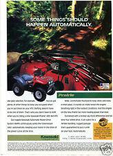 1996 Kawasaki Prairie 4X4 ATV Four Wheeler Print Ad