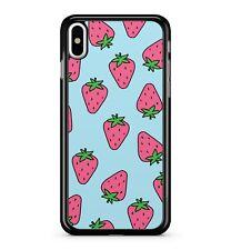 Strawberries Fruit Tasty Red Juicy Pattern Cartoon Painting 2D Phone Case Cover