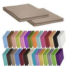 Betttücher 2er Pack 150x240cm ohne Gummizug 100% Baumwolle Bettlaken Unifarben