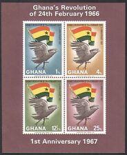 Ghana 1967 Eagle/Flag/Independence/Revolution/Politics/Birds impf m/s (n35359)