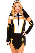 Plus size womens adult sexy Nun dress costume
