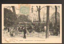 PARIS Champs-Elysées ,MANEGE CHEVAUX de BOIS animé 1903