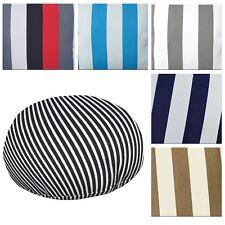 Flat Round Shape Cover*Stripes Cotton Canvas Floor Seat Chair Cushion Case*AK3