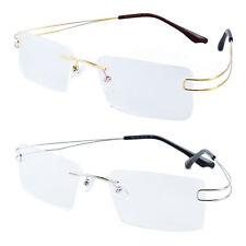 Memory Metal Rimless Myopia Women Men Optical Flexible Eyeglasses Frames Rx 7650