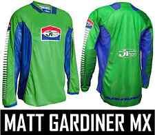 Jt Racing als pro-tour Motocross Mx Jersey Camisa Verde Azul Retro Evo Clásico