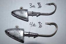 SHAD HEAD  3OZ, OR 4OZ JIG HEADS 8/0 AND 9/0 MUSTAD HOOK SWIMBAITS DEEP SEA
