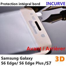Vitre Film Protection Ecran VERRE Trempé Intégral Samsung Galaxy S6/S7/Edge/plus