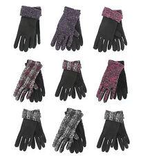 Ladies Fashion Gloves (Brenda/Kesia) (Pink/Purple/Black/Silver)