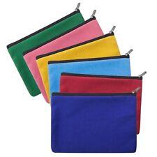 6x Lot Aspire Blank Canvas Pouch Zipper Makeup Cosmetic Bag 7 x 5