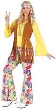 Hippie Flower Power 70er Jahre Karneval Fasching Kostüm 36-54