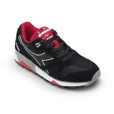 Scarpe Sneaker Uomo DIADORA Modello N9000 NYL II Black / Ferrari Red