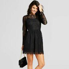 NEW Xhilaration TARGET JRs Womens Mesh Lace Fit&Flare Dress Black XS,S,M,L,X